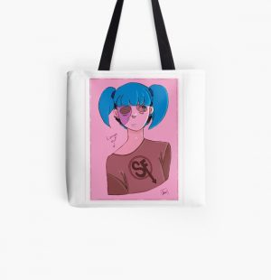 Sally Face from Sally Face All Over Print Tote Bag RB0106 product Offical Sally Face Merch