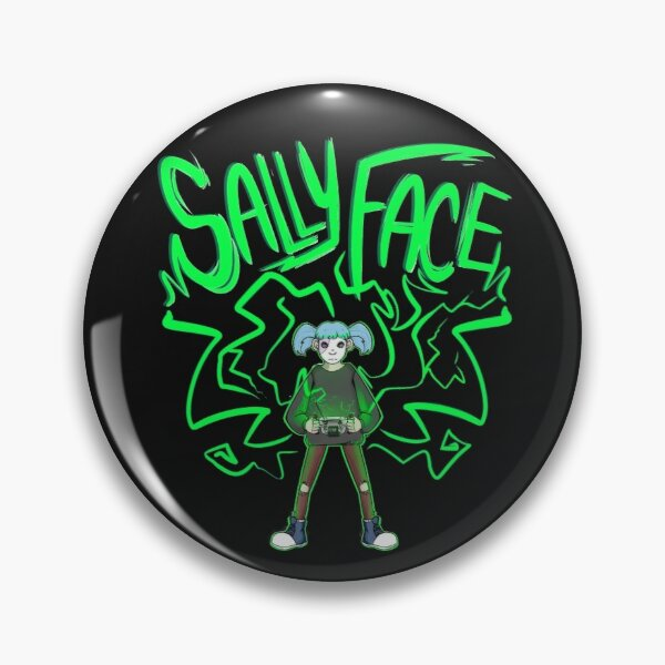 Sallyface Super GearBoy graphic Pin RB0106 product Offical Sally Face Merch